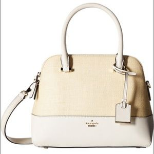Kate Spade Cameron Street Straw Satchel in Maise